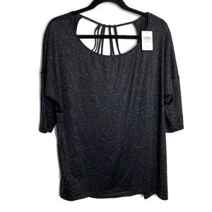 MAURICES In MOTION Black Athletic Fitness Top